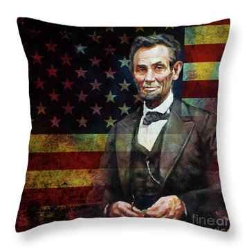 Abraham Lincoln The President  Throw Pillow by Gull G