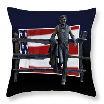 Abraham Lincoln Throw Pillow by Thomas Woolworth