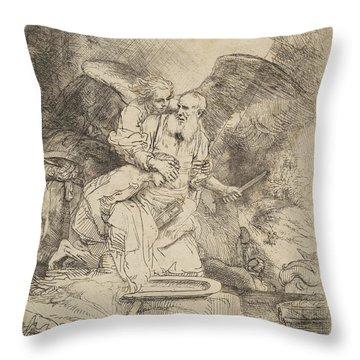 Abraham's Sacrifice Throw Pillow