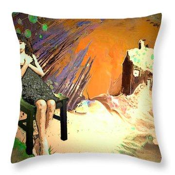 Absent Love Throw Pillow by Miki De Goodaboom