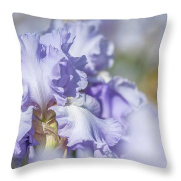 Absolute Treasure 1. The Beauty Of Irises Throw Pillow