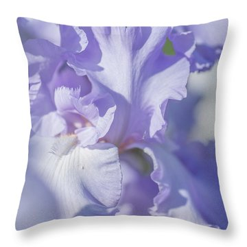 Absolute Treasure Closeup 2. The Beauty Of Irises Throw Pillow