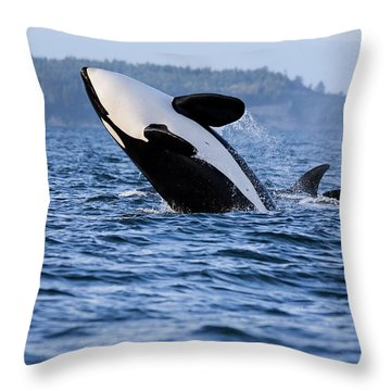 Absolutely Free - Whale Art Throw Pillow