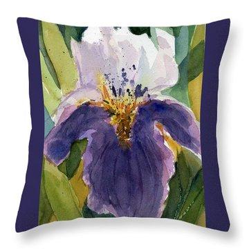 Absract Iris Throw Pillow