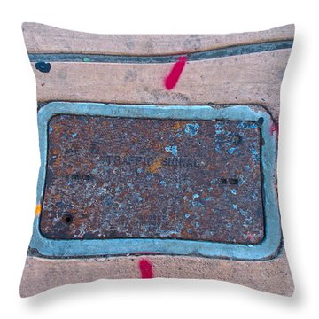 Absraction Aroumd You Throw Pillow by Chuck Taylor