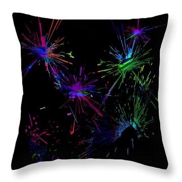 Abstact 392 Throw Pillow by Judi Suni Hall