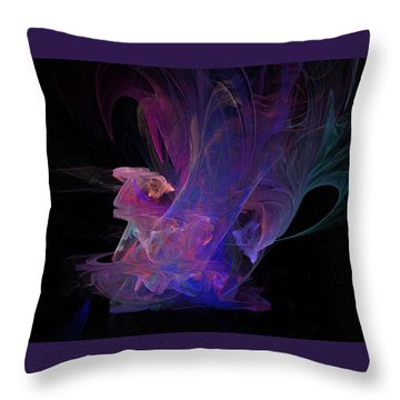 Abstact Pink Swan Throw Pillow