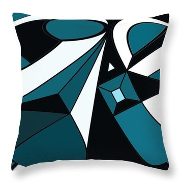 Abstrac7-30-09-a Throw Pillow by David Lane