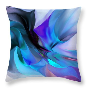 Abstract 012513 Throw Pillow by David Lane