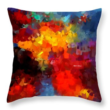 Throw Pillow featuring the digital art Abstract 034 by Rafael Salazar