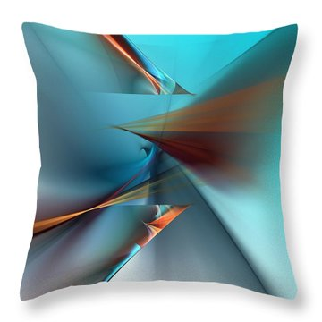 Abstract 040411 Throw Pillow by David Lane