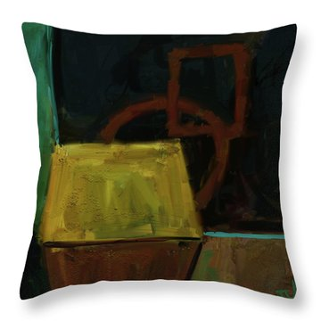 Throw Pillow featuring the digital art Abstract - 05aug2017 by Jim Vance