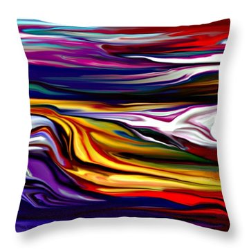Abstract 06-12-09 Throw Pillow by David Lane