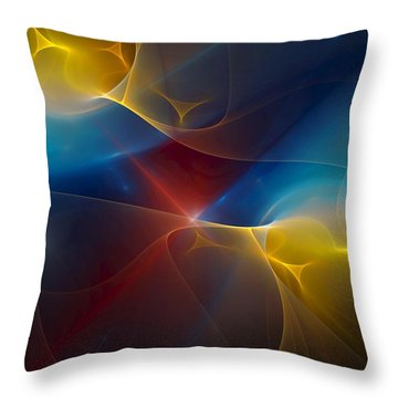 Abstract 060410 Throw Pillow by David Lane