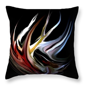Abstract 07-26-09-c Throw Pillow by David Lane