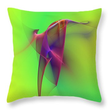 Throw Pillow featuring the photograph Abstract 091610 by David Lane