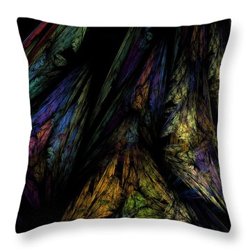 Abstract 10-08-09-1 Throw Pillow by David Lane