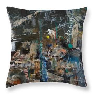 Throw Pillow featuring the painting Abstract #101414 - Fendi by Robert Anderson