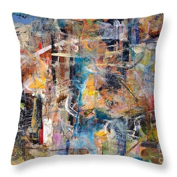 Abstract #101514 Throw Pillow