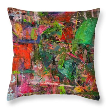Abstract #101614 Throw Pillow