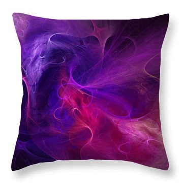 Abstract 111310b Throw Pillow by David Lane