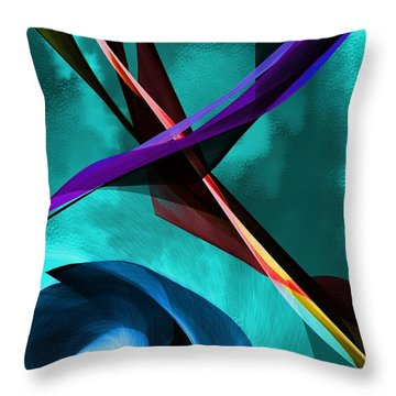 Abstract 111417 Throw Pillow