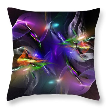 Abstract 112211 Throw Pillow by David Lane