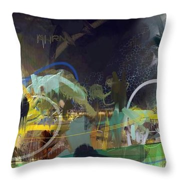 Abstract 11715 Throw Pillow