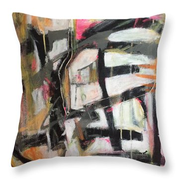 Abstract 1230-16 Throw Pillow by Shelley Graham Turner
