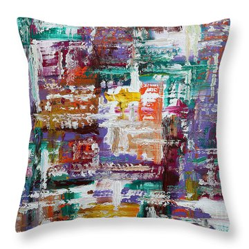 Abstract 193 Throw Pillow by Patrick J Murphy