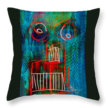 Throw Pillow featuring the painting abstract 2 June6 2015 by Jim Vance