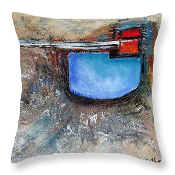 Throw Pillow featuring the painting Abstract 200112 by Rick Baldwin