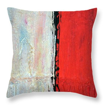 Throw Pillow featuring the painting Abstract 200803 by Rick Baldwin