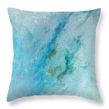 Throw Pillow featuring the painting Abstract 200907 by Rick Baldwin