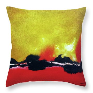 Throw Pillow featuring the painting Abstract 201207 by Rick Baldwin