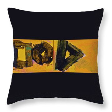 Abstract 2071-diptych Throw Pillow