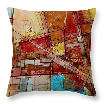 Abstract #240 Throw Pillow