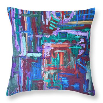 Abstract 27 Throw Pillow by Patrick J Murphy