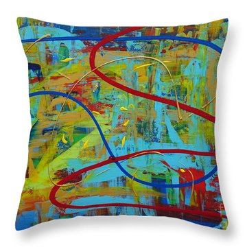Abstract 2_untitled Throw Pillow