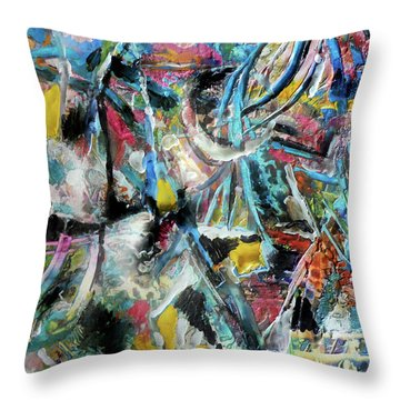 Abstract 301 - Encaustic Throw Pillow