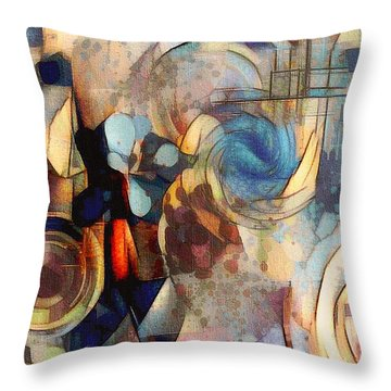 Abstract 32 Throw Pillow