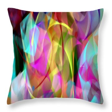 Throw Pillow featuring the digital art Abstract 3366 by Rafael Salazar