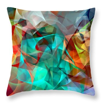 Throw Pillow featuring the digital art Abstract 3540 by Rafael Salazar