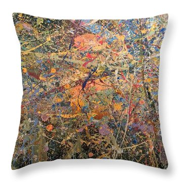 Abstract #416 Throw Pillow