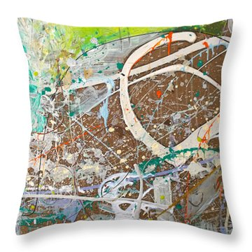 Abstract #41915 Or Waxing Gibbous Throw Pillow