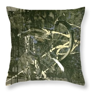 Abstract #42015 Or Lock Ness In Town Throw Pillow
