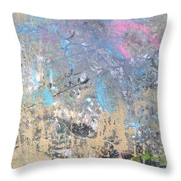 Throw Pillow featuring the painting Abstract #42115a by Robert Anderson