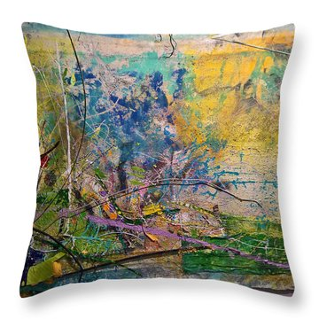 Abstract #42217 Throw Pillow