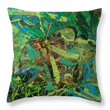 Abstract #493 Throw Pillow
