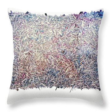 Abstract Digital Throw Pillows
